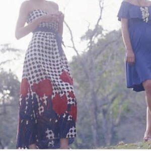 Anthro's Maeve Tulip Fields maxi dress